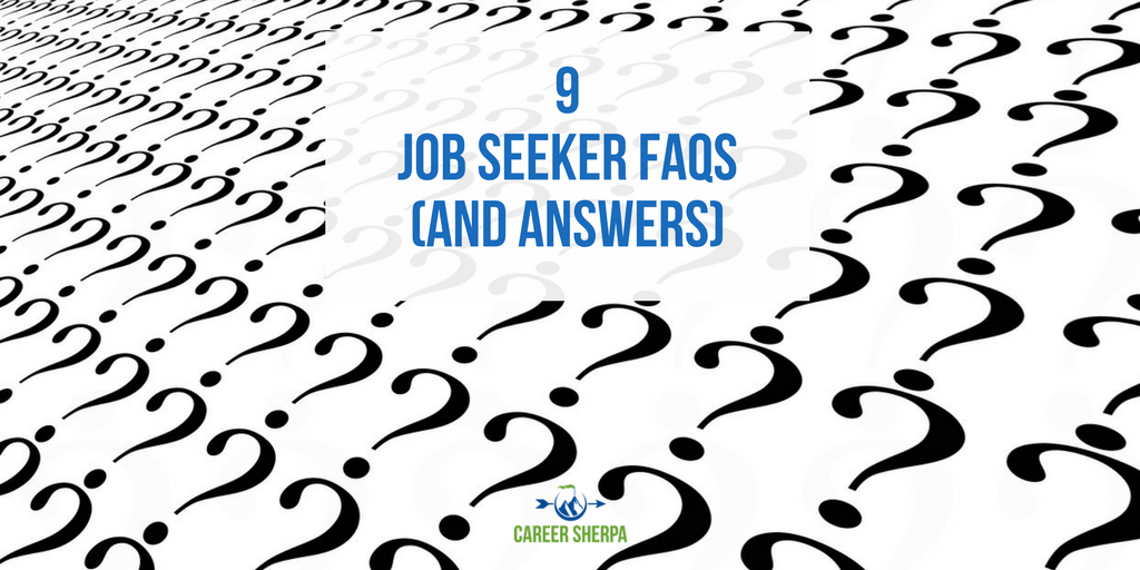 Job Seeker Frequently Asked Questions