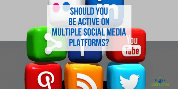 Should You Be Active On Multiple Social Media Platforms
