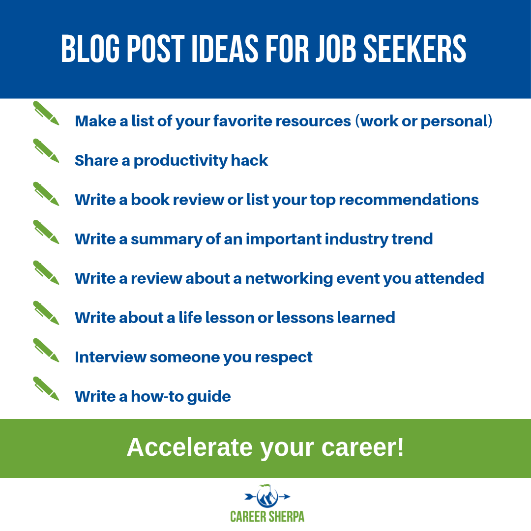 Blog Ideas | Career Sherpa