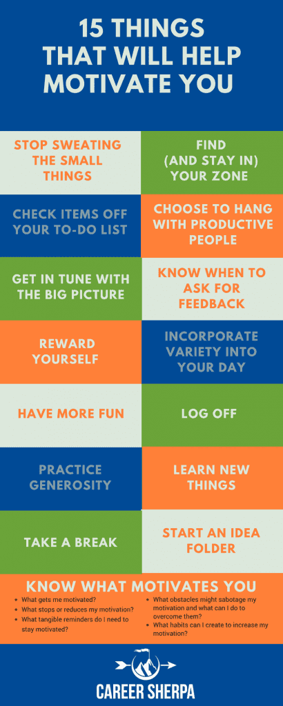 15 Things That Will Help Motivate You INFOGRAPHIC