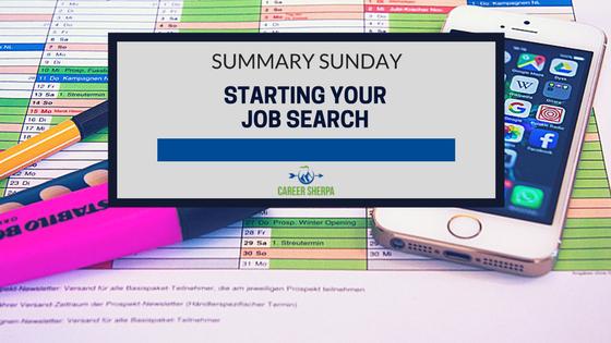 starting job search