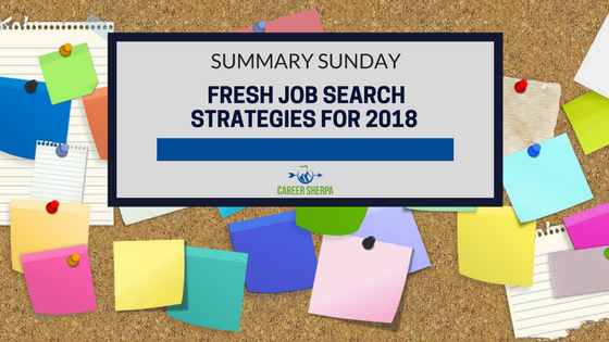 Fresh Job Search Strategies for 2018