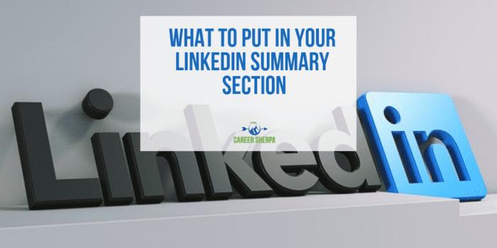 LinkedIn Summary Section