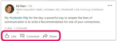 LinkedIn comment