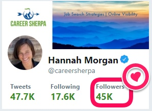 careersherpa Twitter 45K followers