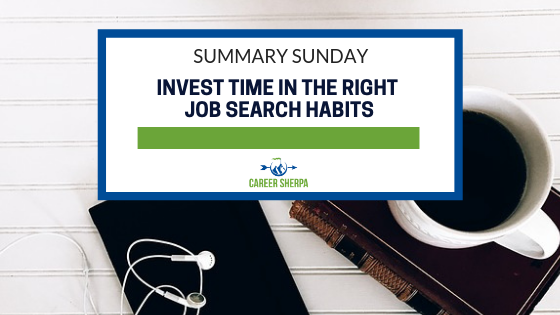 right job search habits
