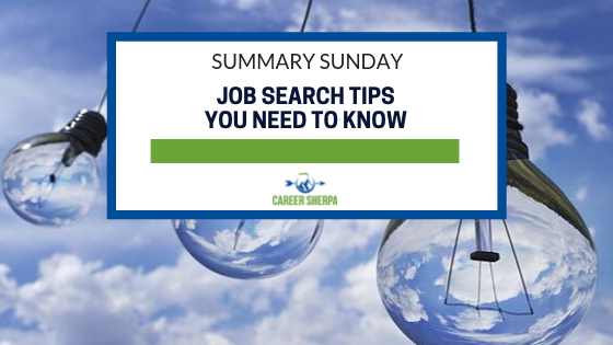 Summary Sunday_ Job Search Tips You Need To Know