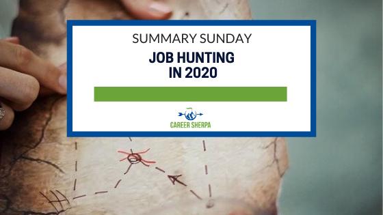 Summary Sunday Job Hunting in 2020