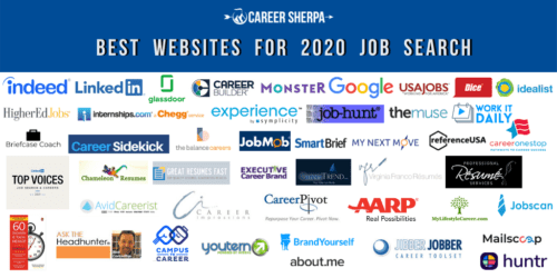 Best Websites for 2020 job search logos