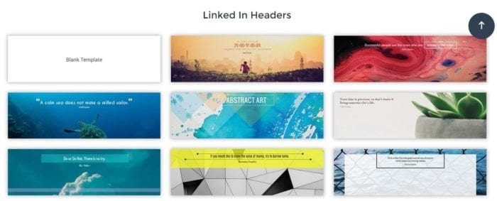 Visme LinkedIn header templates