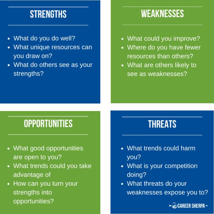 SWOT Analysis for job search