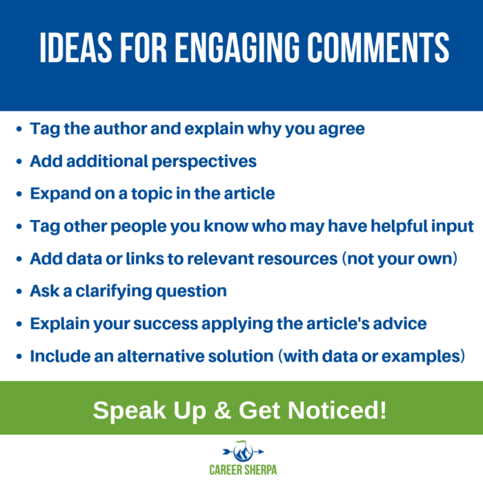 ideas for engaging comments