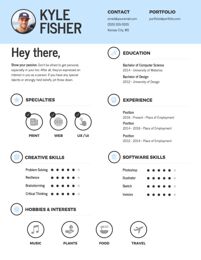 infographic resume Venngage