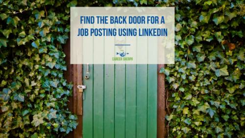Find the Back Door for a Job Posting Using LinkedIn