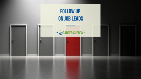 Follow Up on Job Leads