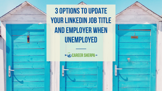 3 Options To Update Your LinkedIn Job Title and Employer When Unemployed