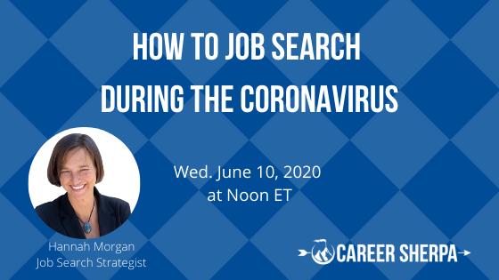 job search during coronavirus