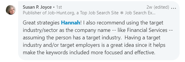 Susan P. Joyce LinkedIn title and employer advice