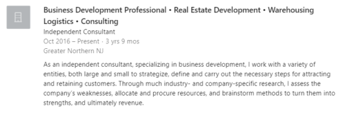 Independent consultant role