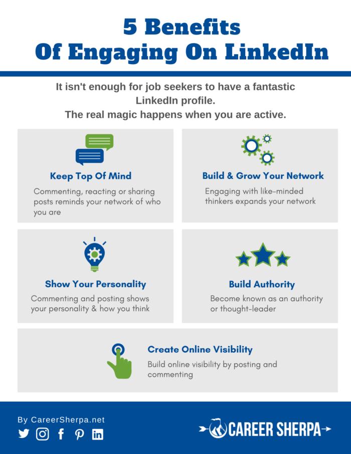 benefits of engaging on LinkedIn