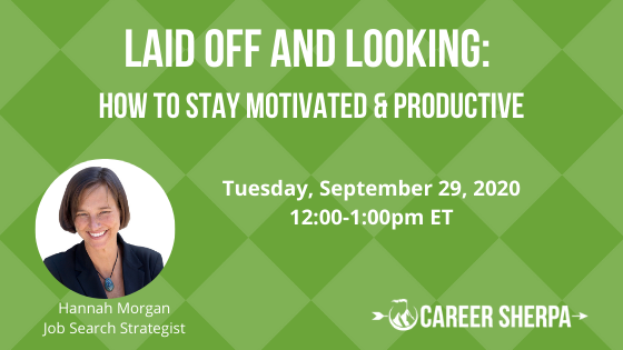 laid off and looking free webinar