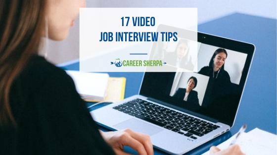 17 Video Job Interview Tips