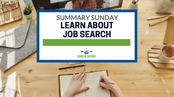 Summary Sunday  Learn About Job Search