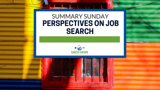 Overview Sunday Perspectives On Job Search