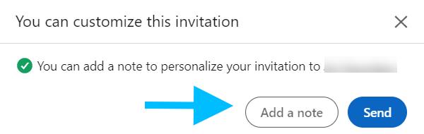 personalize your invitation note