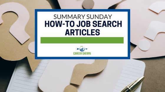 Summary Sunday How To Job Search Articles
