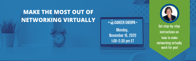Make the most of networking virtually webinar
