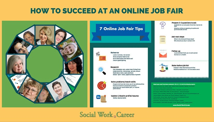 how to succeed at an online job fair