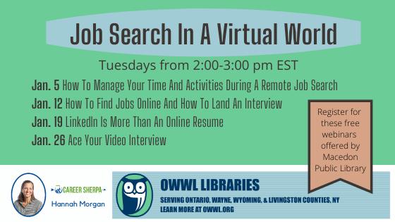 Job Search in a Virtual World series