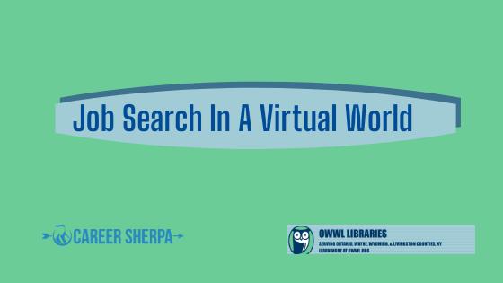 Job Search in a Virtual World series Macedon Public Library