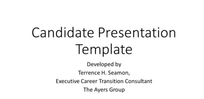 Candidate Presentation Template - Terrence Seamon