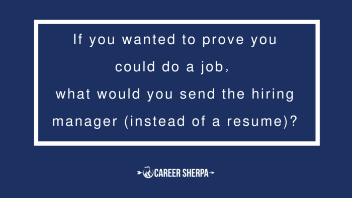 what would you send a hiring manager instead of a resume?