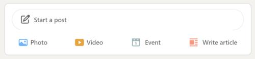 LinkedIn start a post