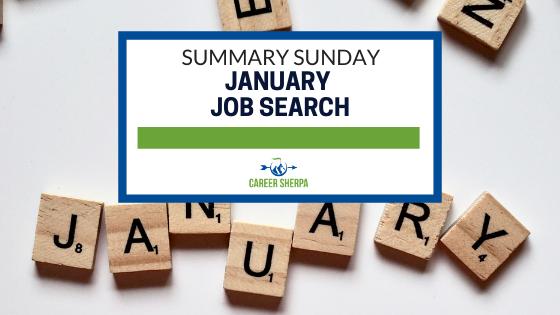 Summary Sunday January Job Search