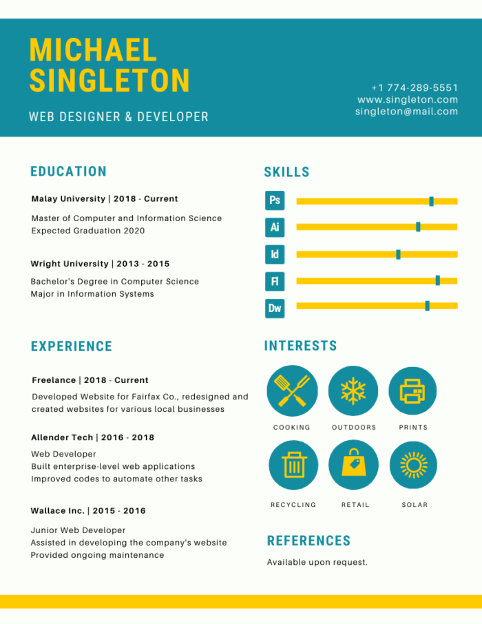 Canva Infographic Resume Template
