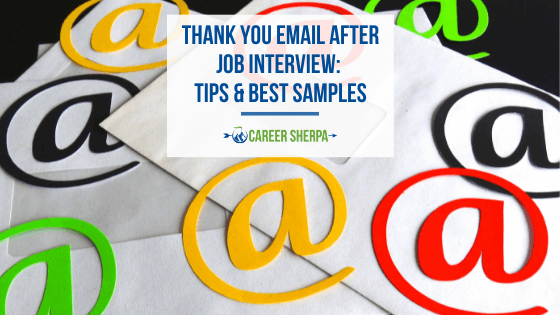 thank you email after job interview