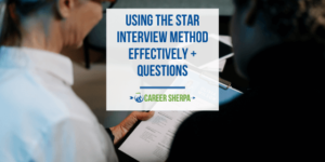 Two people using the STAR interview method