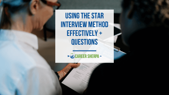 using the STAR interview method
