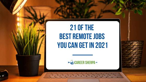 Best remote jobs 2021